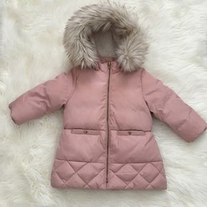Baby girls hooded down puffer coat